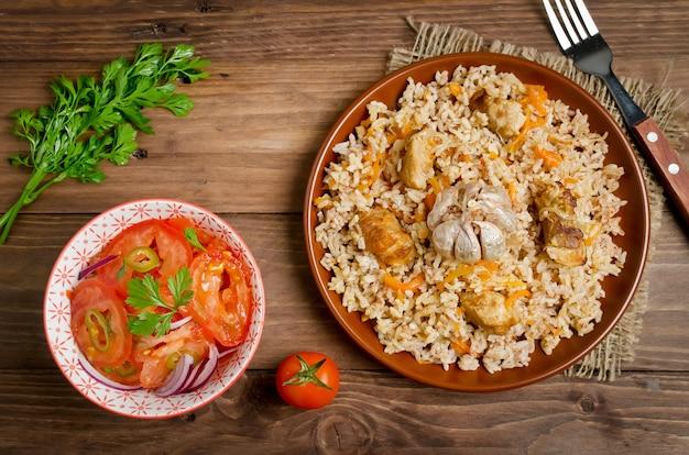 Рисовый плов с мясом и овощами