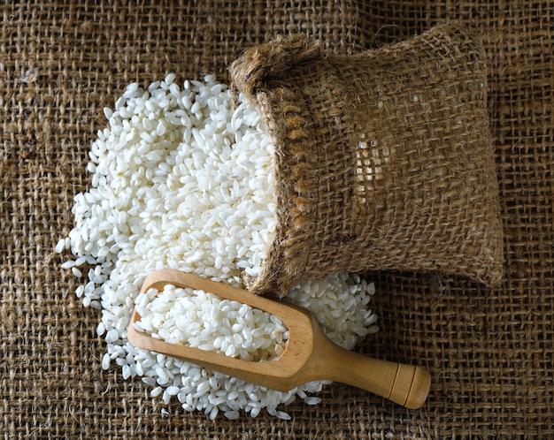 Rice in the sack