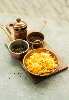 Rice and spices composition