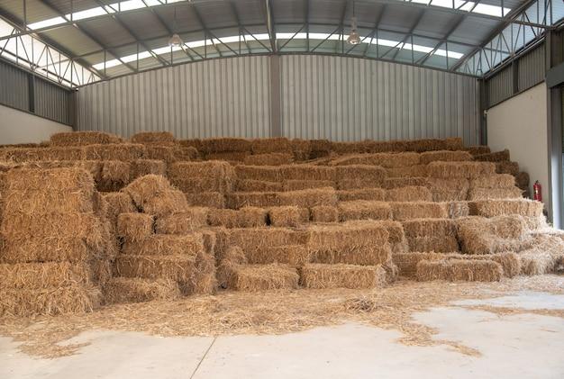 Rice straw warehoouse.