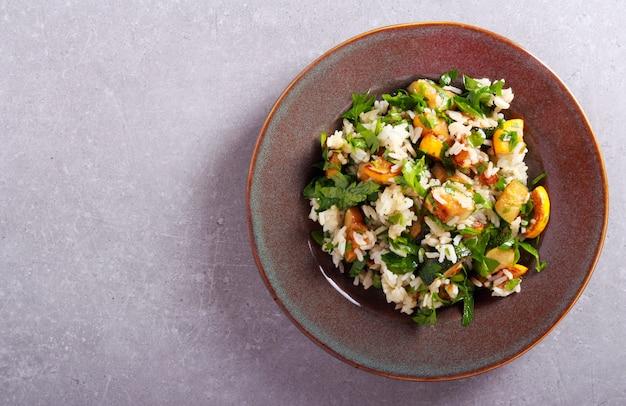 쌀, 호박, 파슬리 캐서롤