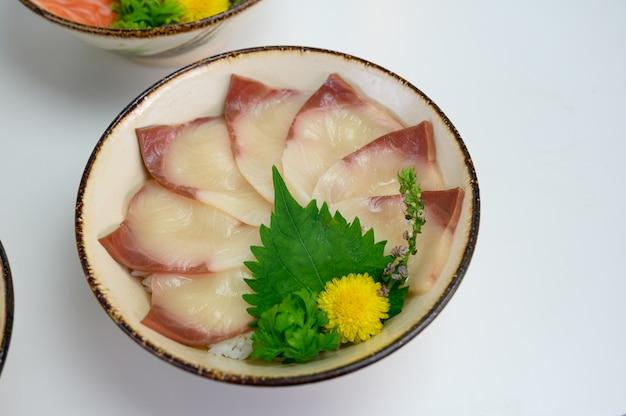 Riceの生ハマチセット