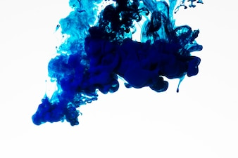 Rich blue colored ink droplet