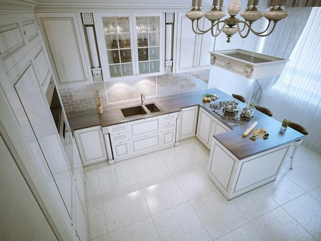 Богатая кухня в стиле арт-деко