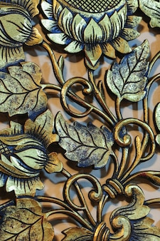 Richly decorated background of wrought flower