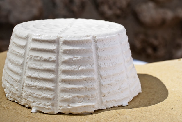 Ricotta typical sicilian sheep cheese traditional cheese wheel