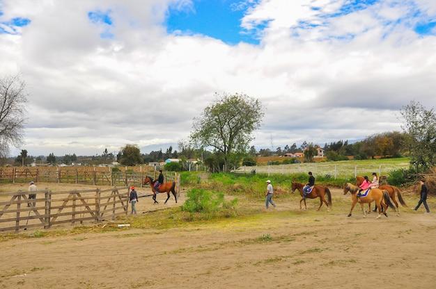 エクアドルの乗馬学校