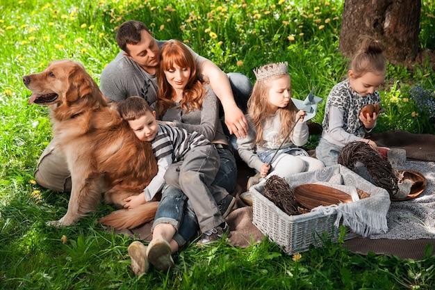 Riendly, 쾌활한 가족 소풍.