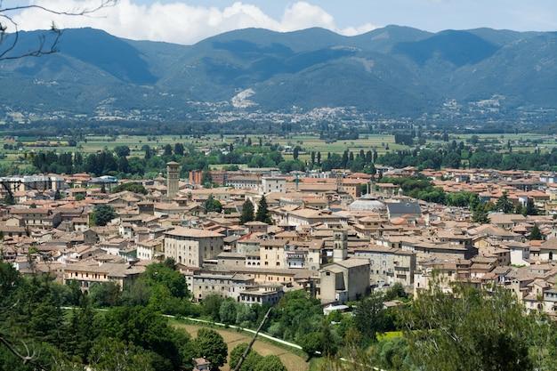 イタリア、ラツィオのリエティ市。都市の景観、上からの眺め