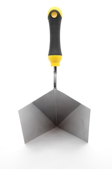 Right angle construction trowel
