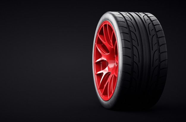 Rim mounted vehicle tire. when to change the wheels of your car.