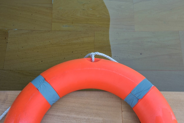 Ring buoy swimming pool.