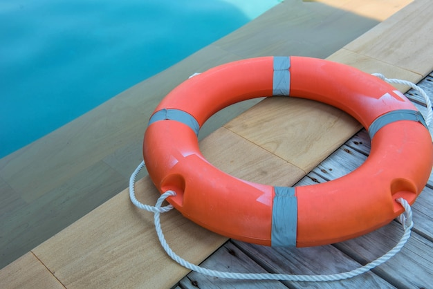 Ring buoy swimming pool.