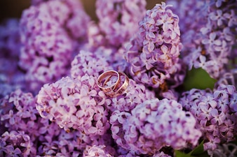 Ring on flowers