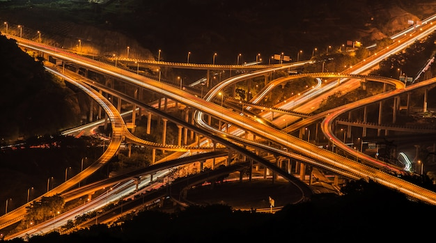 Ring-shaped overpass in chongqing, china