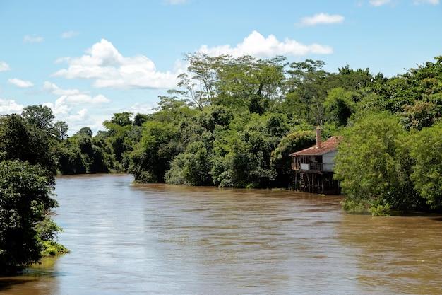 Rio apore in the brazilian tourist city lagoa santa in the interior of goias