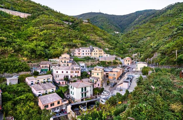 Riomaggiore village at the cinque terre italy