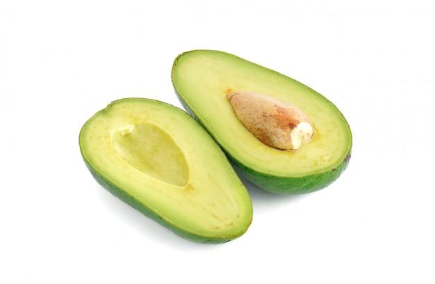Ripe avocado tropical fruit isolated