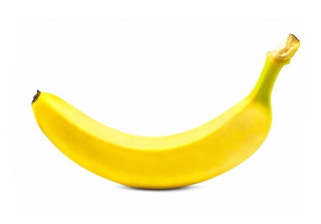 흰색 배경에 고립 익은 바나나