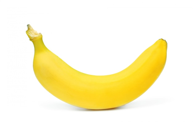 Ripe banana isolated