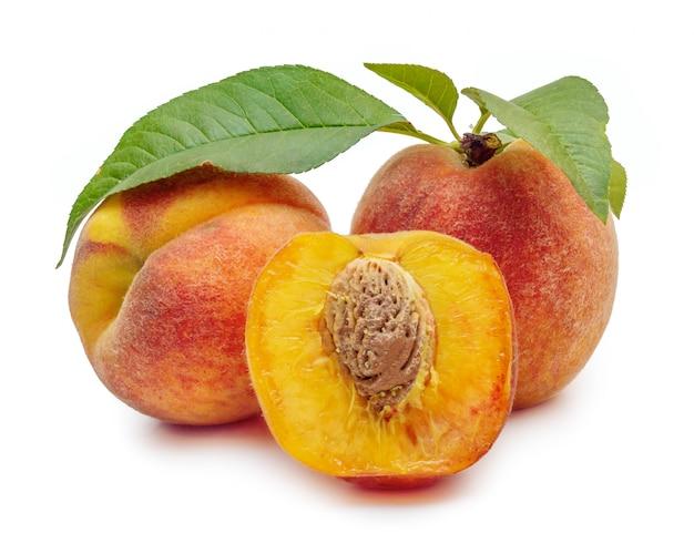 Ripe and beautiful peaches