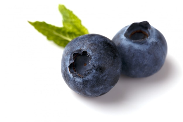 Ripe blueberries isolated