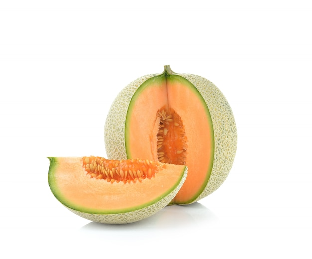 Ripe cantaloupe melon isolated