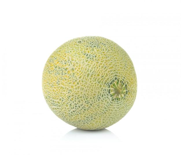 Ripe cantaloupe melon isolated