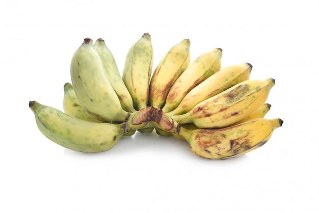 Зрелый культивируемый звонок банана kluai nam wa в тайском изолировал.