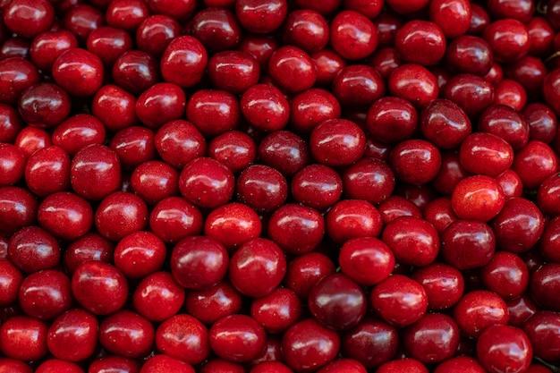 Ripe fresh cherries