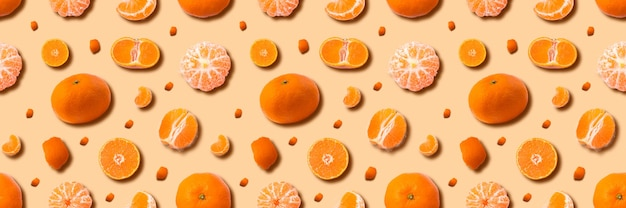 熟したマンダリンセットの背景、柑橘類のタンジェリン。