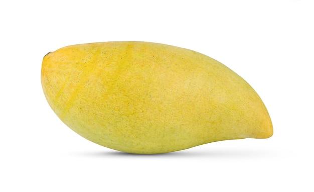 白い背景で隔離の熟したマンゴー