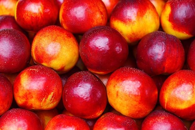 Ripe nectarine fruit harvest background