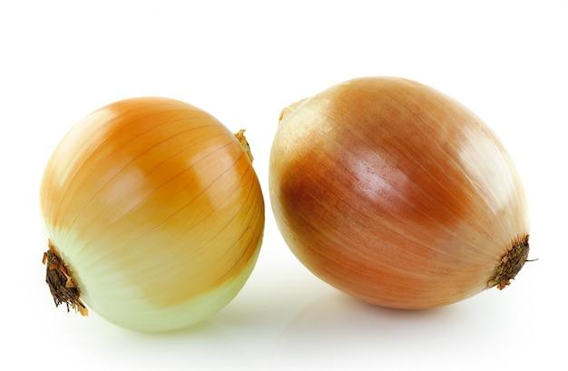 Ripe onion isolated