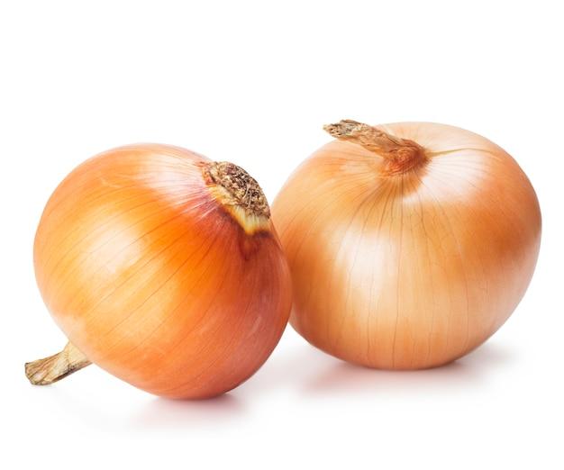 Ripe onions isolated on white Premium Photo