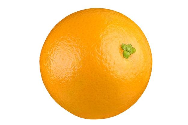 Спелый апельсин, изолированные на белом фоне отсечения путь. полная глубина резкости