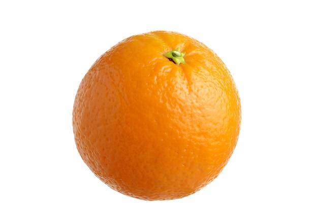 白い背景に分離された熟したオレンジ+クリッピングパス