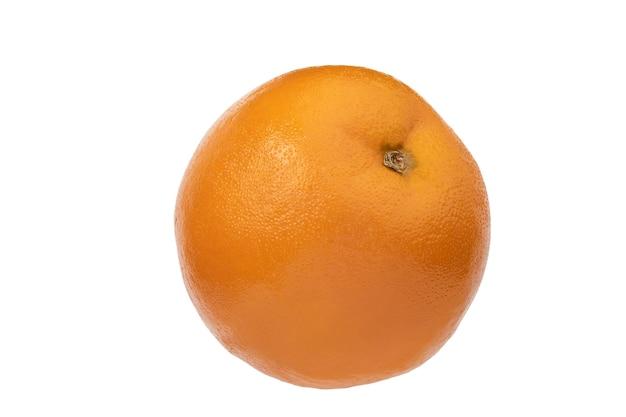 Спелый апельсин, изолированные на белом фоне обтравочный контур