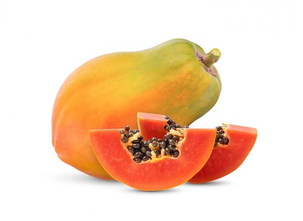 Ripe papaya fruit with seeds