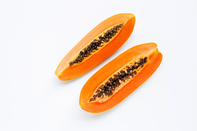 Ripe papaya fruit