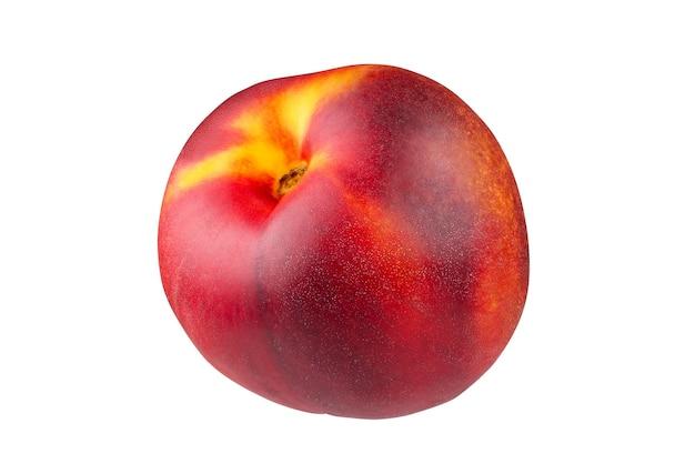熟した桃は、ペンツールで白い背景に分離されます。被写界深度全体。