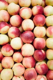 Ripe peaches background