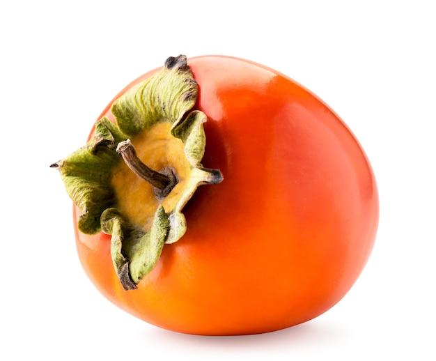 熟した柿のクローズアップ。孤立した果物