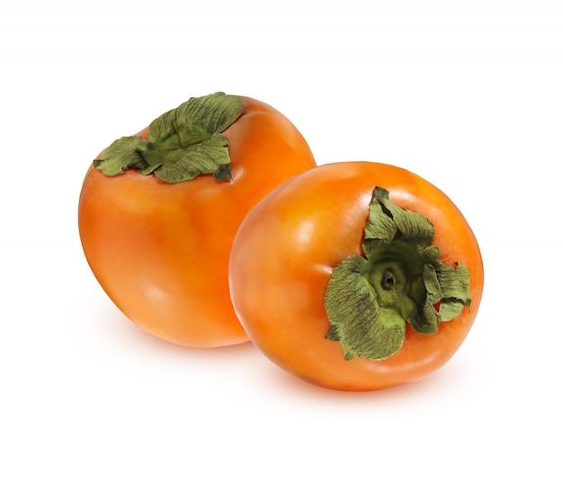 Ripe persimmon isolated