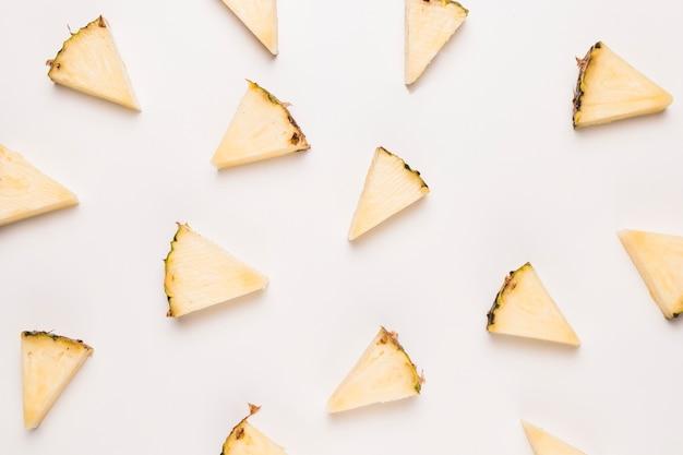 Ripe pineapple slices