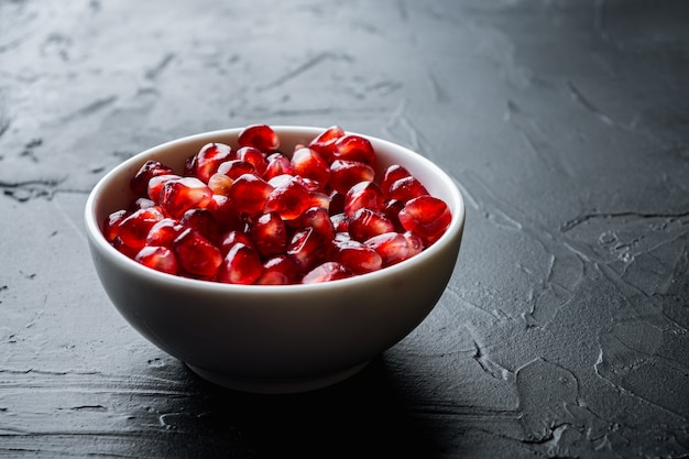 Ripe pomegranate with fresh juicy seeds