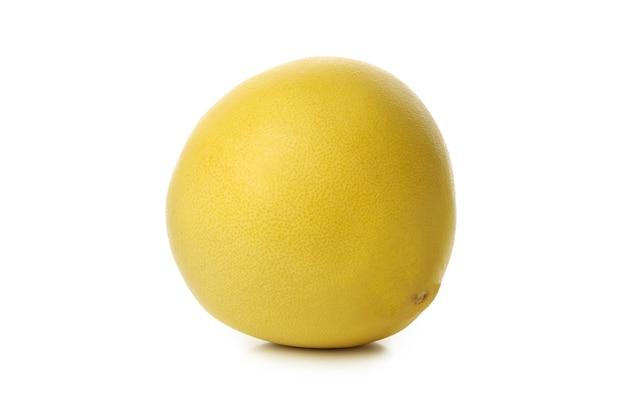 잘 익은 포멜로 과일 흰색 배경에 고립