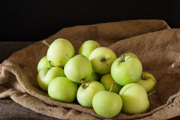 Ripe red and green apples on wood. apples in bowl. garden fruits. autumn fruits. autumn ha