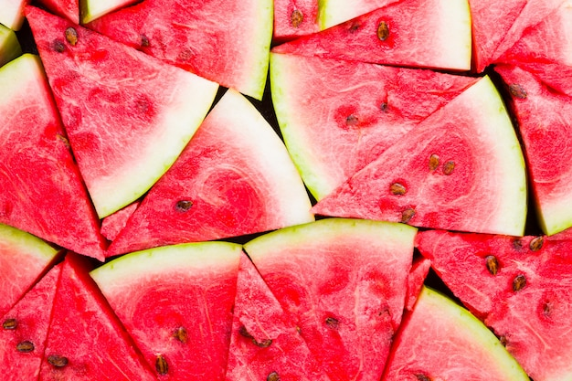 Ripe watermelon with seeds.