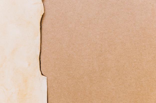 Разорванный картон и текстура бумаги